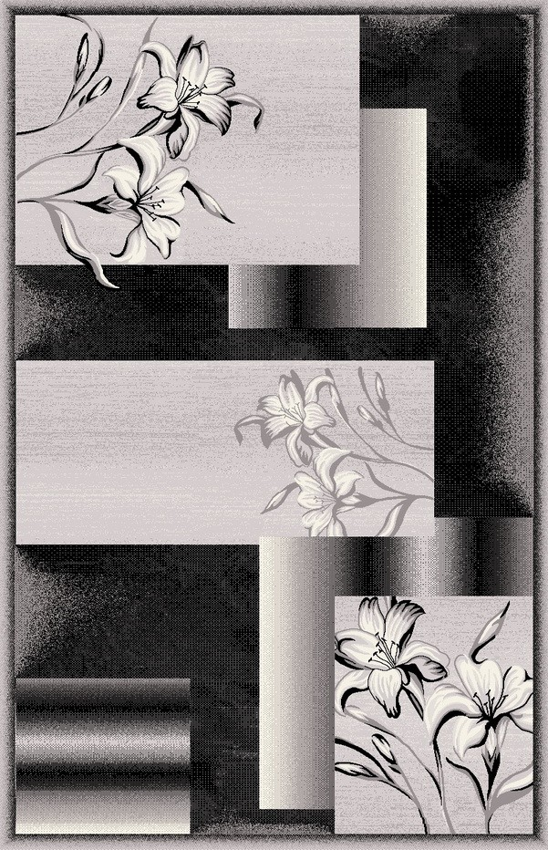 7768 Black Dark Grey Jr Carving