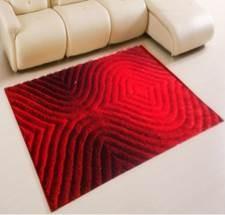 4 Red 3D Shag